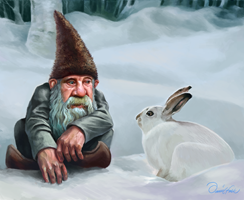 Tomte with Rabbit