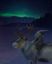 Tomte with Reindeer