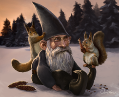 Tomte with Squirrels